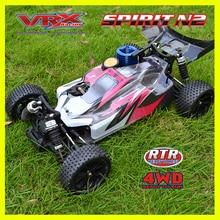 Радиоуправляемая машина 4WD VRX Racing SPIRIT N1 nitro buggy 1/10 мощная. 18 нитро двигатель с горкой carburretor внедорожный rc автомобиль дистанционного управления