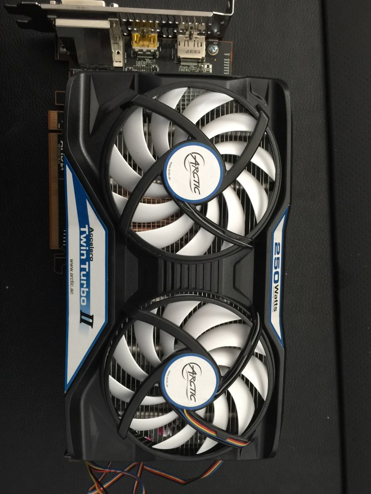 Arctic Accelero Twin Turbo II, dual 92mm PWM Fan video card cooler Replace  for R9 380, 370X, 285, 270, R7 370, GTX 980, 970, 960