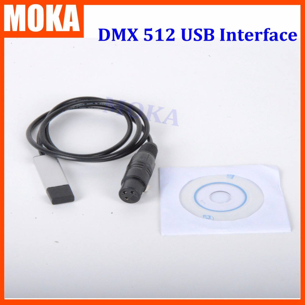 Usb dmx controller 512 Interface Adapter LED DMX512 Computer Stage Lighting Controller Dimmer Interface Converter 24ch easy dmx512 dmx decoder led dimmer controller dc5v 24v each ch max 3a 8 groups rgb controller iron case