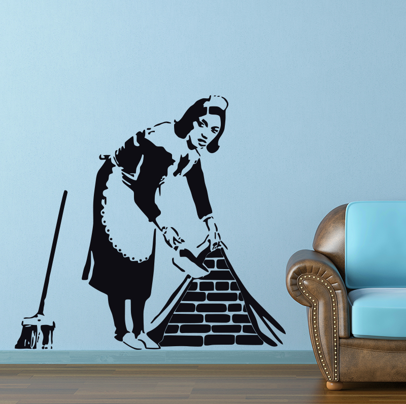 Banksy Maid Wall Sticker Home Decor Street Art Vinyl