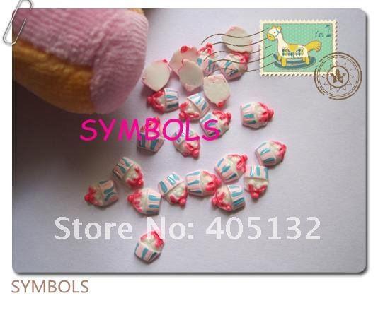 Rc-74-3 оптом 200 шт./пакет клубничный кекс украшение для ногтей украшение для мобильного