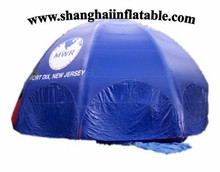 2016 good quality blue inflatable tent dome inflatable booth camping shelter