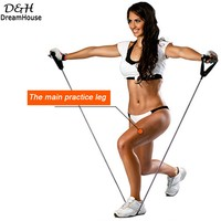 New 10 PCS Kit Resistance Bands Elastic Exercise Rubber Leg Arm Resistance Stretch Band Fitness Tube Workout Pull Rope Equipment