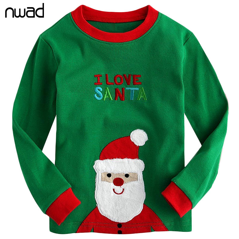 9a6f1487e Kids Christmas Pajamas Set Fashion Santa Claus Pijamas Sleepwear For ...