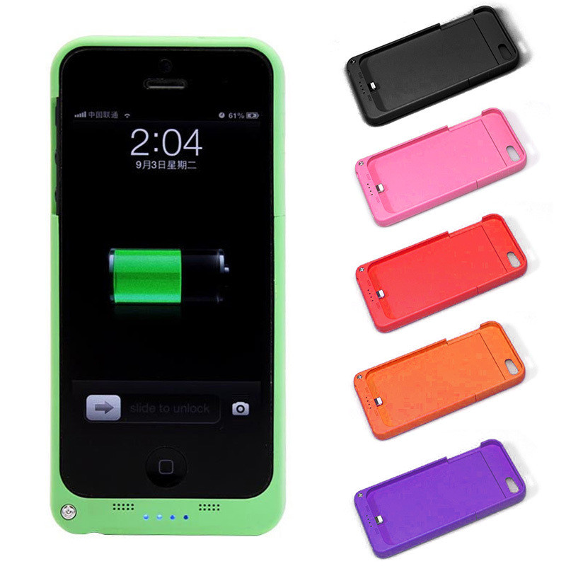 iphone 5 case charger 2200mah for iphone 5 5s se multi color external portable 14492