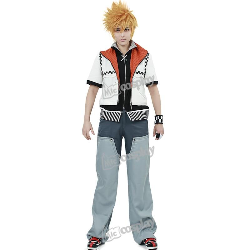Anime New Hot Kingdom Hearts Roxas Cosplay Costume Halloween Party Men Clothing