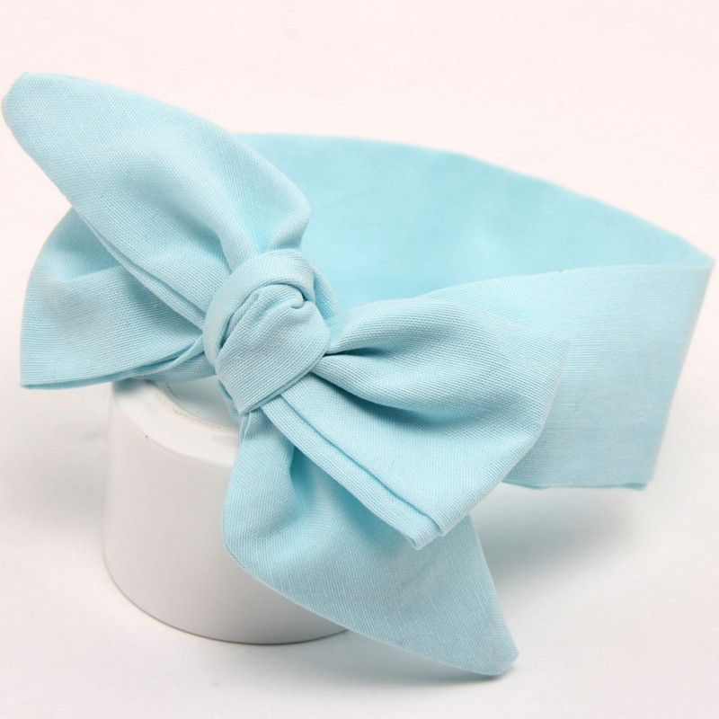 Big flower headband Girl Cloth Headband Bow hair ribbon bow Rabbit Ears Bow Elastic Hair Band in Hair Accessories from Mother Kids