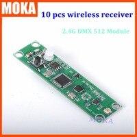 10 Pcs Lot 2 4G Portable PCB DMX Wireless Receiver Receivertransmitter Signal DMX Controller For LED