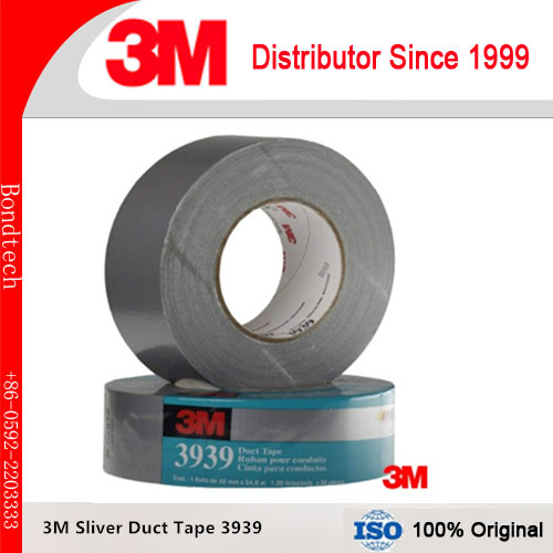3M Sliver Cloth Duct Tape 3939 , 200 Degree F Performance Temperature,waterproof ,48mmX55M/roll ( 1roll/Lot) 3939