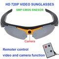 Freeshipping 720 P 5MP Câmera de Vídeo Controle Remoto 170 Graus de Ângulo de Visão Inteligente Eletrônica de Vidro óculos de Sol Óculos