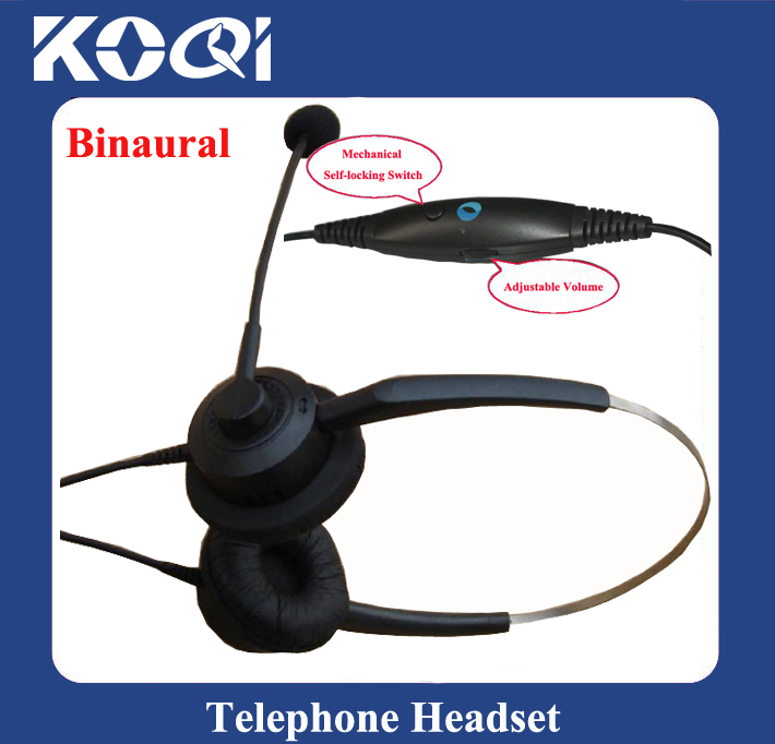 ФОТО Professional Anti-noise Call Center Telephone Headphone / headset with RJ09 Plug with Volume Control and mute function