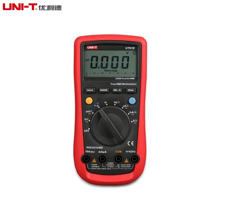 Factory Outlet UNI-T UT61E Digital Multimeter auto range true RMS Peak value RS232 REL AC/DC amperemeter uni t UT 61E multimeter karadar car detector str535 russia 16 brand icon display x k nk ku ka laser strelka anti radar detector best quality