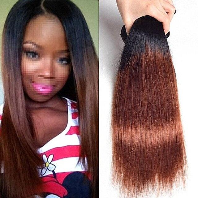Full Shine 1b 30 Ombre Brazilian Hair Two Tone Brazilian Weave Hair