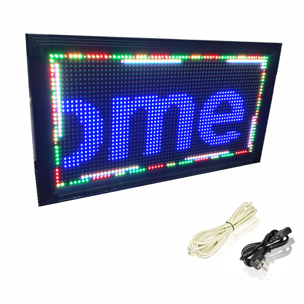 P10 Waterproof Outdoor Double Sided Full Color RGB  LED Display Board Information 32*64 Pixel