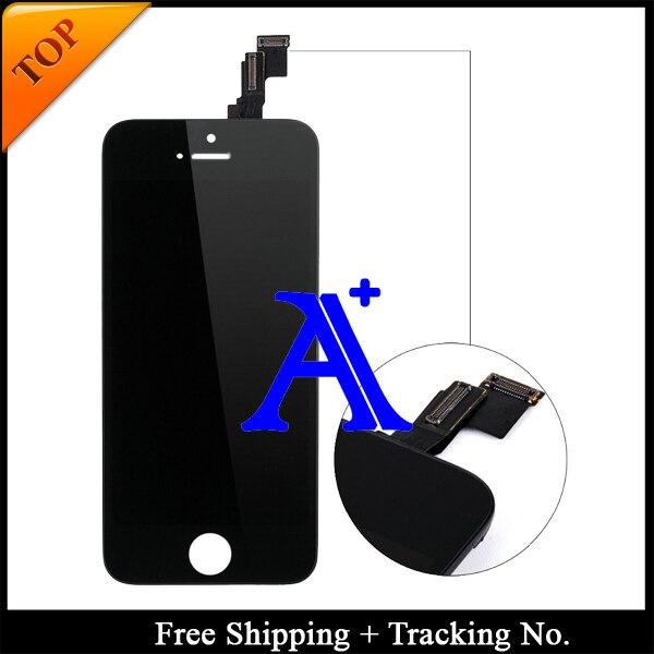 Shipping + Tracking No. 100% probado para a estrenar de 4 ' para el iPhone 5C pantalla LCD digitalizador asamblea blanco / negro