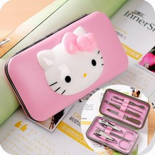 Hello Kitty 7 in1 Pedicure Nipper Cutter Baby Nail Clipper Stainless Manicure Set Kit