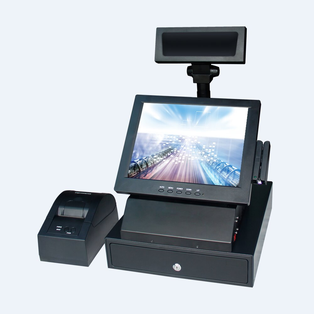 12 inch cheaper retail all in one pos system touch cash register restaurant pos system restaurant
