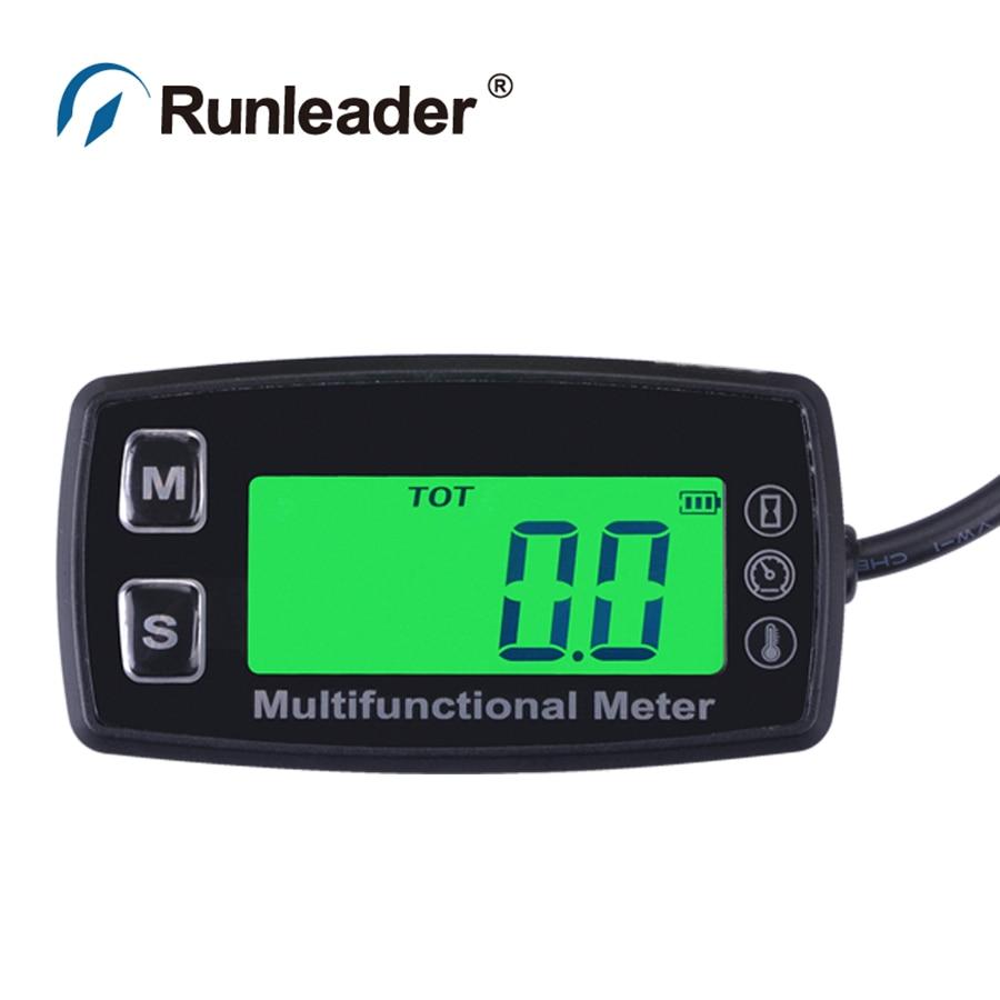 Digital LCD RL-TS001 PT100 -20~+300 Celsius degree tach hourmeter thermometer temp meter for paramotor glider motorcycle ATV UTV