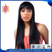 Fashion Straight brazilian virgin human hair full lace wigs glueless lace front wigs with bangs for black women fast delivery