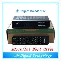 10ピース/ロットフルtvチャンネルソフトウェアzgemma-スターh2 fta hd衛星受信機でenigma2 linux os dvb-s2 + t2/cツインチューナー