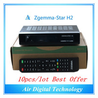 10pc/lot Full TV Channels Softwares Zgemma Star H2 FTA HD Satellite Receiver With Enigma2 Linux OS DVB S2+T2/C Twin Tuners