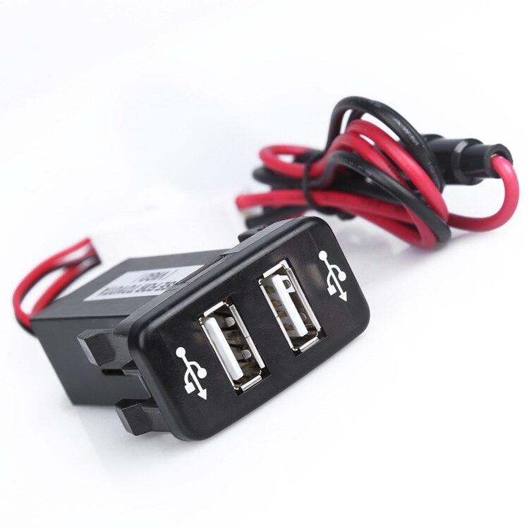 Accesorios Para automóviles Electrónica Socket Adaptador de Doble Puerto USB Car