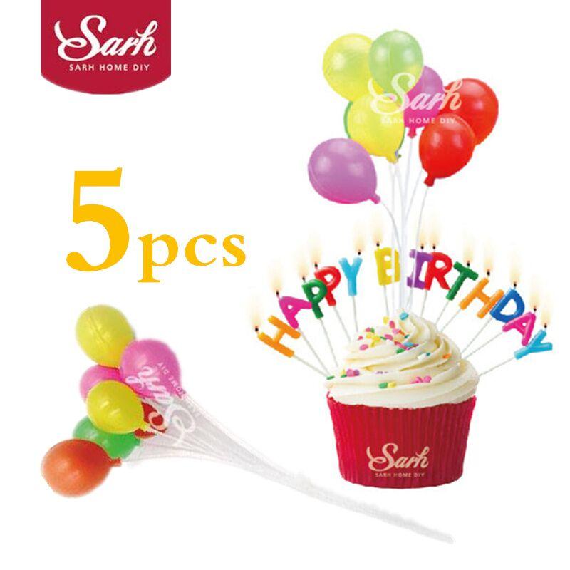 5PCS Cake Happy Birthday Party Decorations Small Balloon