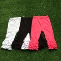 free shipping 3 pieces per lot hot pink black white 1 each pc baby girls icing Capri  cheap baby  ruffle capri  lot sell