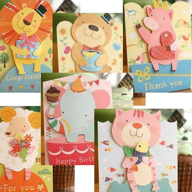 20Pcslot Mini Cartoon Kawaii Animal DIY Post Greeting Inviting – Inviting Cards