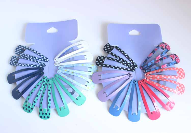 HOT 12pcs/lot children printing floral bobby pin headwear girls dot & heart hair snap clip kids Solid hairpins hair accessories 13pcs children printing hair rings