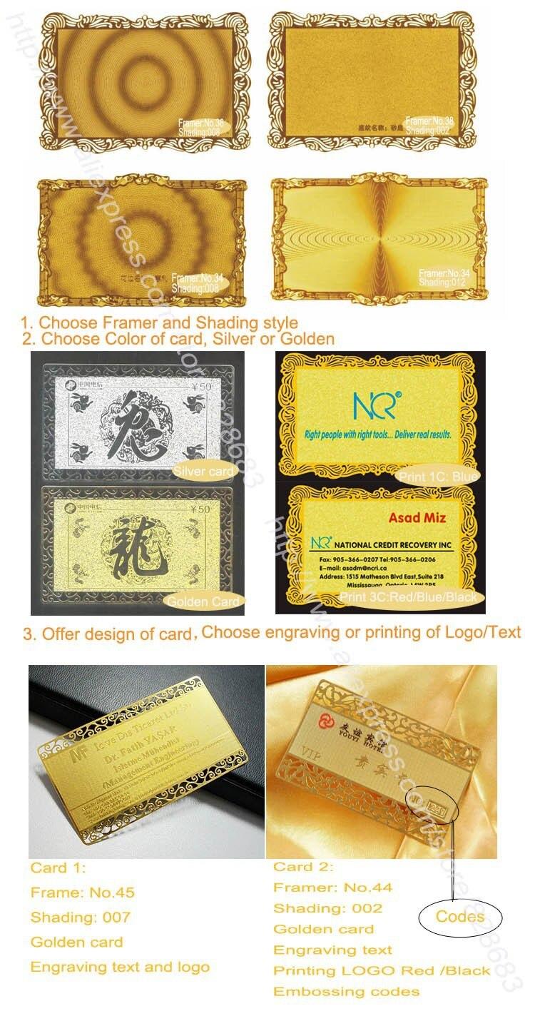 Выгравированные Полированные Золотые металлические карты из нержавеющей стали 100pcs-85X54mm толщиной 0,3 мм