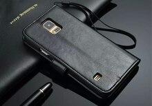 Модные кожаный чехол для телефона Samsung Galaxy S4 i9500 S5 i9600 Роскошный кошелек Стенд Крышка слот для карты сумка Coque Fundas Капа