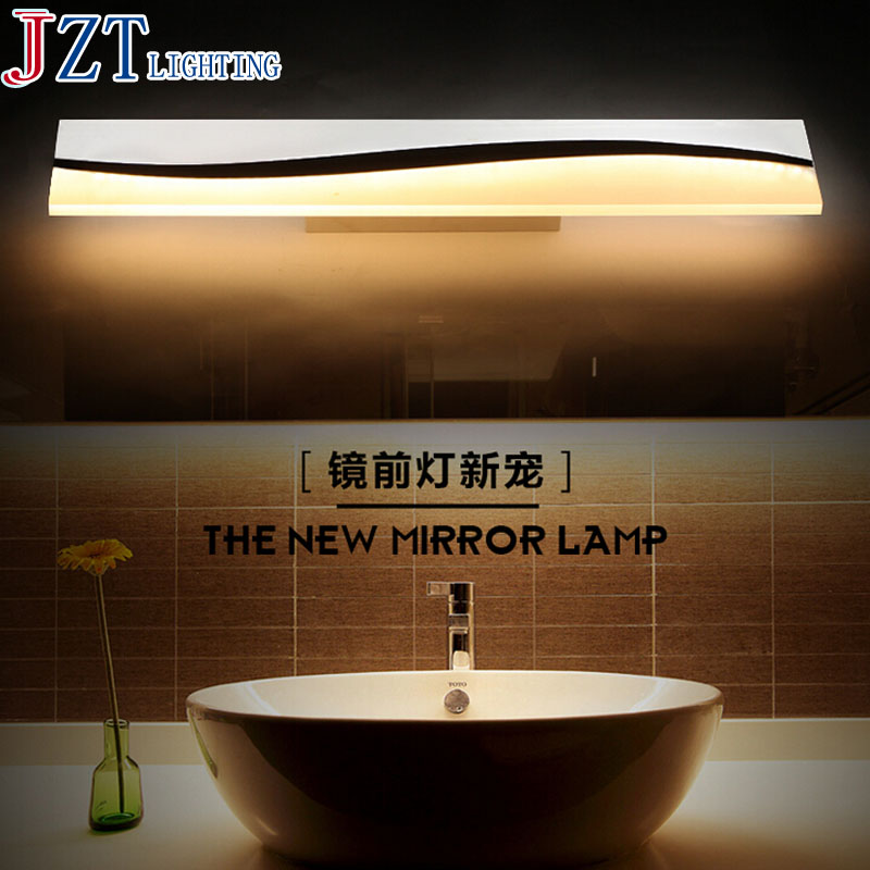 ZYY2016 New Simple Bathroom Mirror Light LED Bathroom Wall Lamp Acrylic Lamparas De Pared Make-Up Waterproof Anti-Fog Lamps 40cm 12w acryl aluminum led wall lamp mirror light for bathroom aisle living room waterproof anti fog mirror lamps 2131