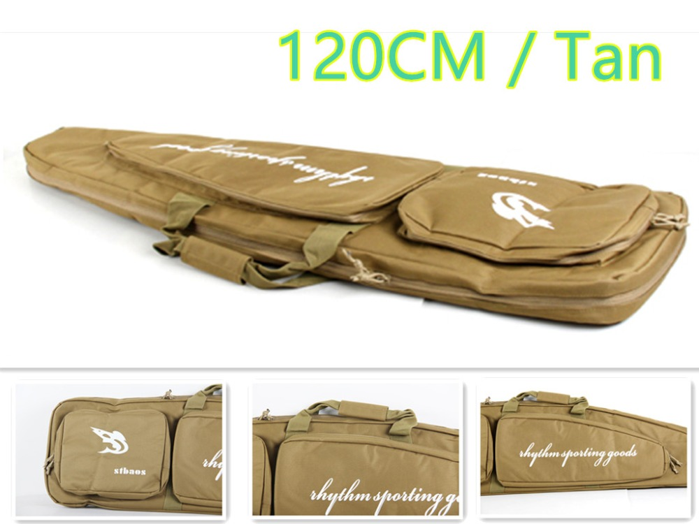 120 CM Color Caqui Airsoft Rifle Shoooting Case Bolsa de Hombro Para la Caza Al