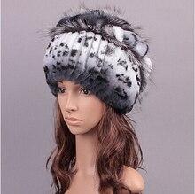 Новый зимний мех шляпы женщин 3 цветов в реальном рекс кролика шапки с серебряной лисицы планки шапочки мягкий теплый зимняя шапка женщины