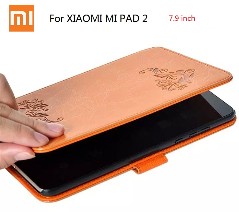 """mipad 3 Colored drawing painting case for Xiaomi Mi pad 2 smart Case Cover Ultra-Slim stand 7.9"""" Tablet PC Case auto wake sleep"""