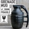 280 ML Negro blanco creativo armamento militar granada forma tazas de café tazas de Cerámica taza de Café Taza drinkware taza de Té con tapa