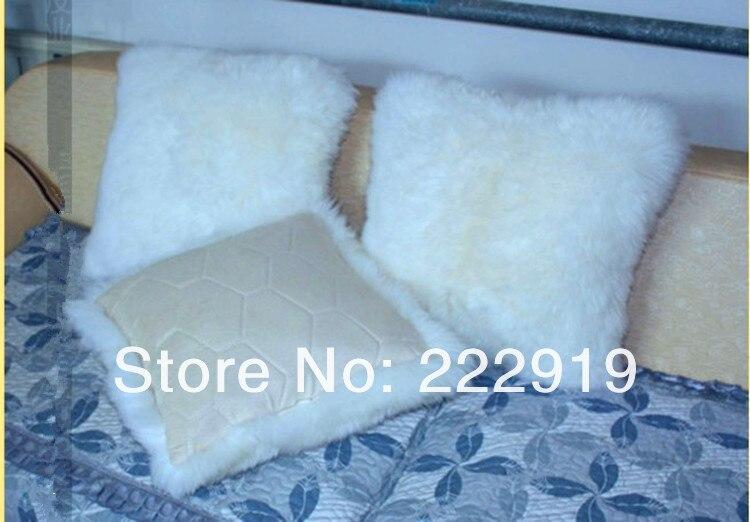 Подушка российского производства Чистая шерстяная Подушка плюшевая длинношерстная стильная подушка для дивана шерстяная подушка/Автомобильная подушка