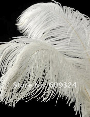 """Префект страуса Перо Pure White 22-2"""" Свадебные украшения свадебного стола центральным"""