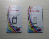 бесплатная доставка небольшой микро-адаптер конвертер для SIM-карты и PIN-код SIM-карты