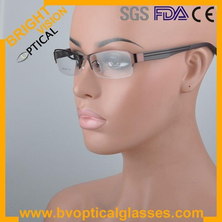 2299kahkiwear Factrory price half rim vintage optical frames eyewear glasses