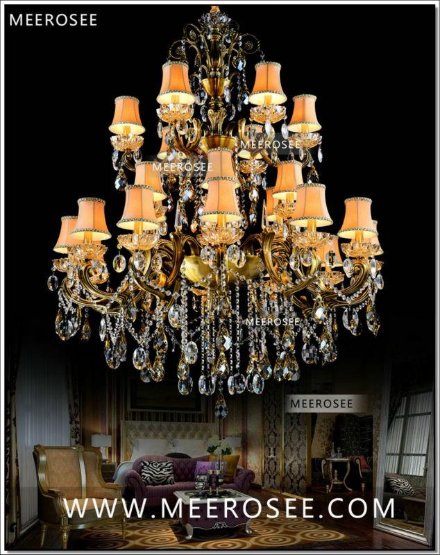 Enjoyable Large 3 Tiers 24 Arms Crystal Chandelier Light Fixture Antique Brass Luxurious Crystal Lustre Lamp Md8504 L24 D1150Mm H1400Mm Interior Design Ideas Tzicisoteloinfo