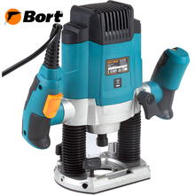 Фрезер электрический Bort BOF-1080N (мощность 1200 Вт, цанги 6 и 8 мм, регулировка скорости)