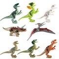 Bela 8 unids/set mundo parque jurásico dinosaurio building blocks super hero ladrillos niños juguetes para niños compatibles con legoeinglys