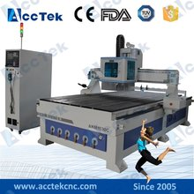 ACCTEK  wood  furniture making 8 tools  linear atc cnc woodworking machine with tool changer