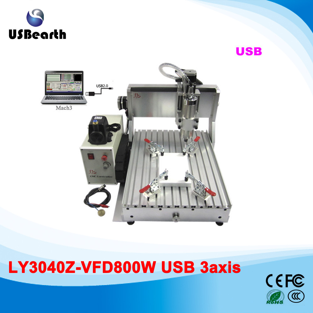 LY 3040Z-VFD800W USB 3axis CNC cutting machine 800W water cooling spindle can add 4th axis блузка where concubine z650 2015