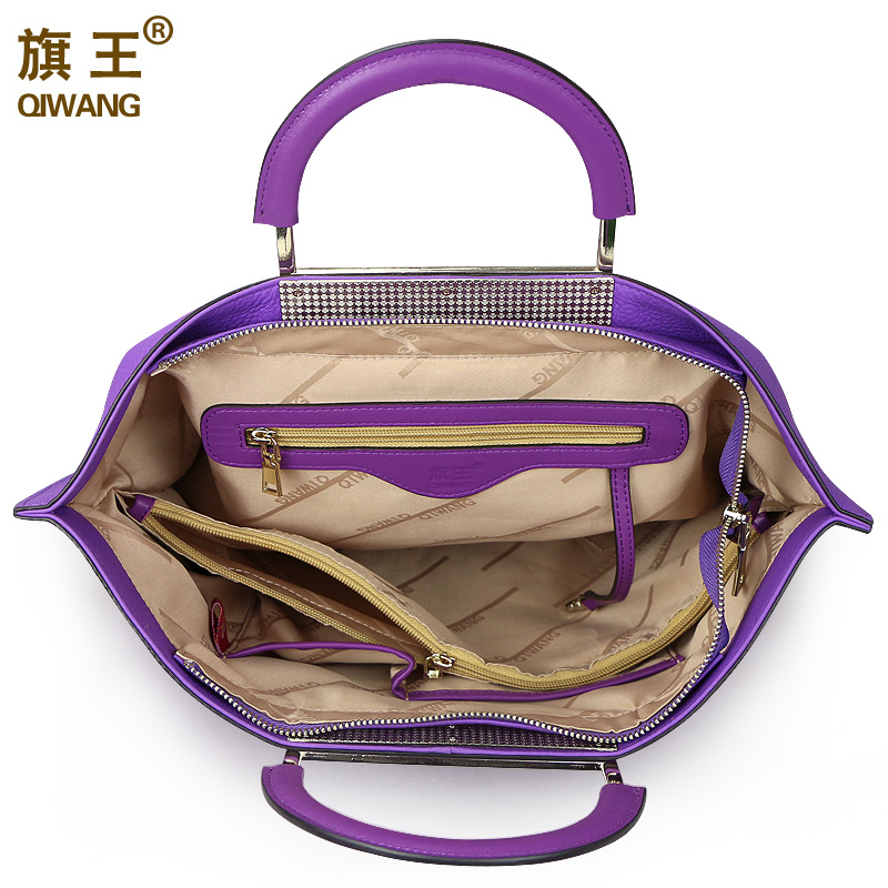 bolsalas roxo europeu marca designr Material : Genuine Leather First Layer
