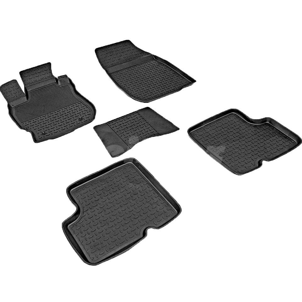 цена For Nissan Almera G15 2013-2019 rubber floor mats into saloon 5 pcs/set Seintex 84088 в интернет-магазинах