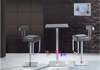 высокое качество пу бар стул с круг основание