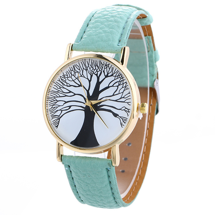 FUNIQUE Fashion Gold Dial Women Leather Watches Casual Tree Pattern Dress Quartz Wristwatch For Girls Clock Hour Montre Femme fashion leather watches for women analog watches elegant casual major wristwatch clock small dial mini hot sale wholesale